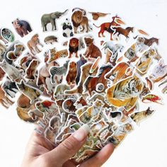 5 Sheets/set Wildlife Wild Animals Scrapbooking Bubble Puffy Stickers #Handmade