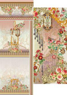 Pattern Art, Pattern Design, Print Design, Textile Prints, Textile Design, Design Seeds, Border Design, Vintage Paper, Botanical Prints