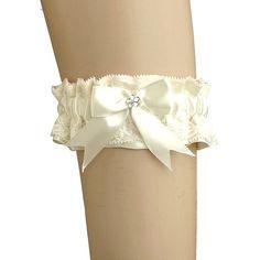 bridal ivory lace garter garter in wedding by FashionForWomen