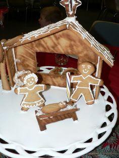 Gingerbread nativity scene!