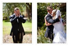 <b>Real, spontaneous emotion from the first time a groom sees his bride on their wedding day.</b>