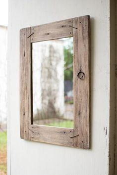 The Recycled Rectangle Wooden Mirror is rustic and modern Mirror for your home. The Mirror is outlined by a broad wooden panel. This mirror is made in the contemporary shape of Rectangle which will be Reclaimed Wood Mirror, Reclaimed Wood Floors, Wood Framed Mirror, Barn Wood, Mirror Man, Rustic Floor Mirrors, Old Mirrors, Decorative Mirrors, Repurposed Wood