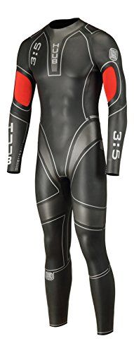 HUUB Design Men's Archimedes 3mm/5mm Triathlon Swim Wetsuit, Black/Red, X-Small ** You can get more details by clicking on the image.