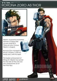 Zoro en la piel de Thor