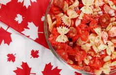 Canada Day Firecracker Pasta Salad <br> So you've volunteered yourself to bring a salad to your Canada Day festivities this weekend. Something cold you can whip up ahead of time! Canada Day Party, Canadian Party, Canadian Food, Canadian Snacks, Canadian Recipes, Good Enough, Chicken Curry, Appetizer Recipes, Appetizers