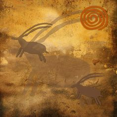 Antelope Dream - by Grimalkin Studio / Kandy Hurley  #primitiveart #folkart  #artforsale @grimalkinart