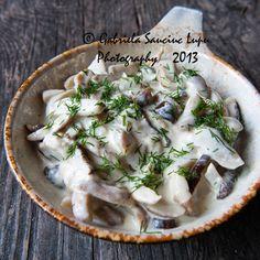 Boletus Mushrooms w/ Sour Cream Sauce