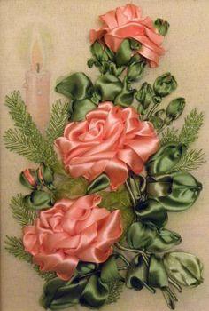 Gallery.ru / Фото #1 - Процесс создания новогодней работы с розами - pskov-sveta