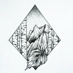 #art #slovakia #artist #blackwork #blackworkers #tattoo #stipple #dotts #stippletattoo #mountains #birch #trees #naturelovers #nature #love #forest #drawing