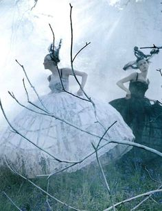 Edie Campbell & Karen Elson by Tim Walker for LOVE Magaine 10 Fall/Winter…