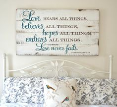 Love bears all things || Aimee Weaver Designs