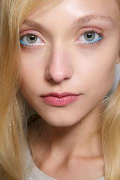 bright blue eyeliner