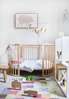ChicDecó | baby girl's nursery by Made by Cohen with Sleepi cot (toddler) by Stokke