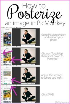 How to make an image Posterized in PicMonkey ...a tutorial! {Reality Daydream}