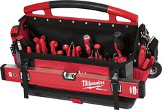 Here is everything you might want to know about Milwaukee's new Packout tool storage system! (Warning to mobile users on limited data plans: there are LOTS of photos. New Milwaukee Tools, Cordless Power Drill, Plumbing Tools, Tools And Toys, Construction, Work Tools, Tools And Equipment, Tool Storage, Power Tools