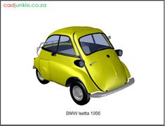 3d Vehicle: BMW Isetta 1956 Autocad, Bmw Isetta, 3d Cad Models, Cad Blocks, 3 D, Vehicles, Car, Vehicle, Tools