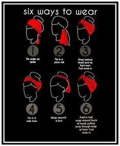 6 Ways to wear bandanas