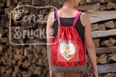 Turnbeutel mit Applikation Rosenrucksack Drawstring Backpack, Backpacks, Bags, Fashion, Cinch Bag, Gymnastics, Appliques, Pictures, Handbags