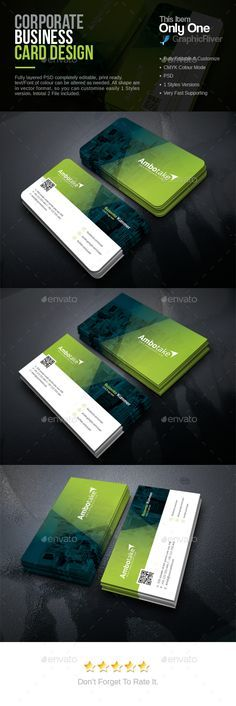 Corporate Business Card Template PSD. Download here: http://graphicriver.net/item/corporate-business-card/16010208?ref=ksioks