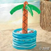 Palm tree cooler...perfect for the kids drinks