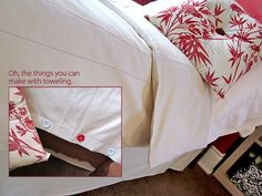 DIY Button DIY Twin Duvet Cover Bed Skirt from Moda Toweling DIY Button