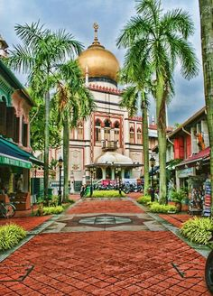 Masjid Sultan (Malay for Sultan Mosque; is located at Muscat Street and North Bridge Road within the Kampong Glam district of Rochor Planning Area in Singapore. The mosque is considered one of the most important mosques in Singapore. The prayer hall and domes highlight the mosque's star features.