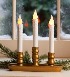 Main image for Battery-Operated Cordless Candle With Auto Timer ...