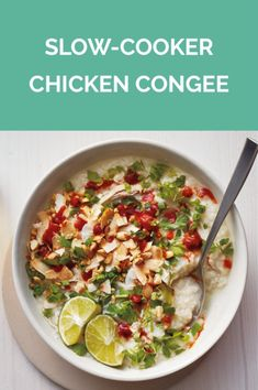 Slow-Cooker Chicken Congee | Get the recipe for Slow-Cooker Chicken Congee.