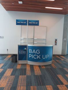 Custom build Bag Pickup counter at PASS BA Conference in San Jose Convention Center. #eventprofs #graphics #SanJose