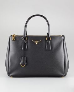 My Winter 2012-Saffiano Double-Handle Tote Bag, Small by Prada at Neiman Marcus.