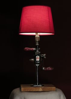 Breast drill table lamp #industrial, #vintage, #repurposed