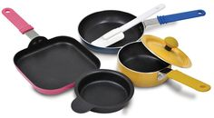 Little Obsessed - Mini Cookware Set, 6 Piece, $24.95 (http://www.littleobsessed.com/mini-cookware-set-6-piece/)