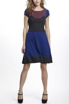 Intarsia Dotted Knitted Dress