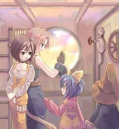 Not gonna lie, I ship Vivi and Eiko. Video Game Addiction, Final Fantasy 3, Fantasy Images, Kingdom Hearts, Finals, Video Games, Fan Art, Anime, Pictures