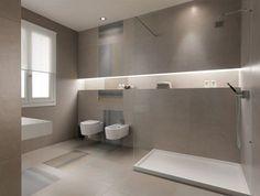 strenges Design saubere Art matter Effekt Badezimmer Fliesen großformatig