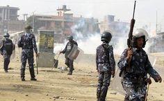 10 injured in clash between police and SLMM in Janakpur