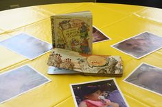 Using nursery rhyme books as centerpieces helped tie the party theme all together.