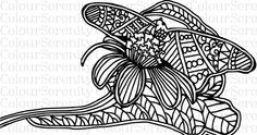Butterfly - Adult Colouring Page Printable Instant Download #34 by ColourSerenity on Etsy