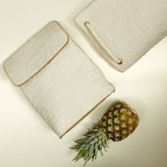 Bags made from animal-friendly Pinatex pineapple leather