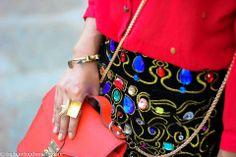 Geometric Ring, perfectly styled by @Nilu Reichel Reichel Yuleena Thapa !