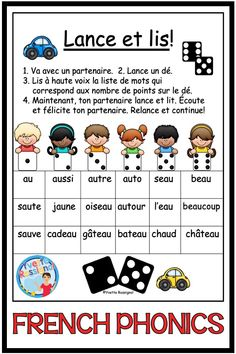 French Flashcards, French Worksheets, French Teaching Resources, Teaching French, Teaching Aids, Teaching Reading, Reading Recovery, Core French, French Education