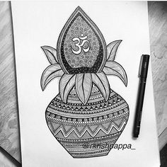 Image may contain: drawing Cute Doodle Art, Doodle Art Designs, Doodle Art Drawing, Mandala Drawing, Mandala Art Lesson, Mandala Artwork, Art Drawings Sketches Simple, Art Drawings For Kids, Madhubani Art