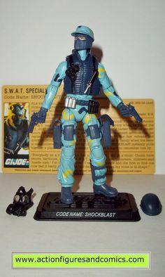gi joe SHOCKWAVE shockblast 2008 25th anniversary hasbro toys action figures