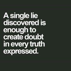 A single lie discovered