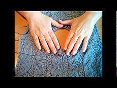 Два способа обработки горловины спицами. 2 видео
