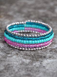 The Dainty Mermaid Boho Wrap Bracelet by HoleInHerStocking on Etsy boho jewelry, boho bracelet, memory wire bracelet, mermaid