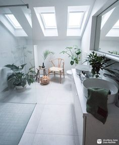 """""""I really love my VELUX windows – makes a big difference in my house."""" They look fantastic in your bathroom, Linda-Mathilde :)"""