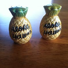 Vintage Pineapple Salt and Pepper Shakers on Etsy, $15.00
