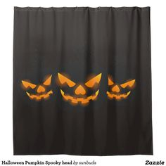 Halloween Pumpkin Spooky head Shower Curtain