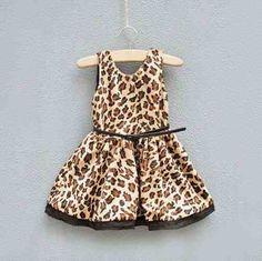 c3781b34f0 Taboo Kid Vestido Nina Animal Print Con Cinto 14617 en Mercado Libre México